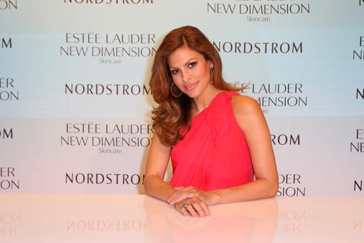 Eva Mendes launches Estee Lauder New Dimension Skincare at Nordstrom Aventura on July 25, 2015 in Aventura, Florida. (Photo by John Parra/Getty Images for Estee Lauder)