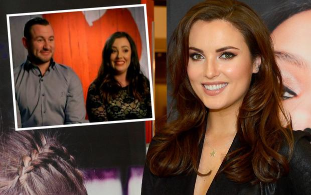 Holly Carpenter and (inset) Daryel and Amy on First Dates Ireland