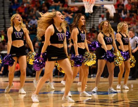 The University of Washington had to take down a cheerleading graphic after public backlash. Getty Images