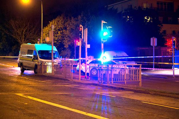 Gardai investigate the scene of a fatal RTA on the Finglas to Glasnevin road in Dublin. Pictures:Arthur Carron