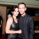 "Director Courteney Cox (L) and Musician Johnny McDaid attend the official after party for Courteney Cox's directorial debut ""Just Before I Go"" hosted by BOMBAY SAPPHIRE Gin at The Flatiron Room on April 24, 2014 in New York City. (Photo by Dave Kotinsky/Getty Images for Bombay Sapphire)"