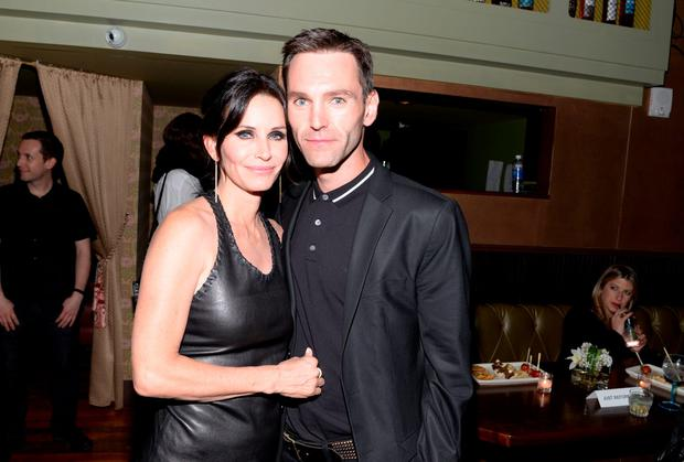 Director Courteney Cox (L) and Musician Johnny McDaid attend the official after party for Courteney Cox's directorial debut