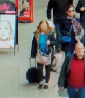 Caron Findlay at Central Station. Police are searching for the 52 year old who disappeared while travelling home from visiting relatives Credit: Police Scotland/PA Wire
