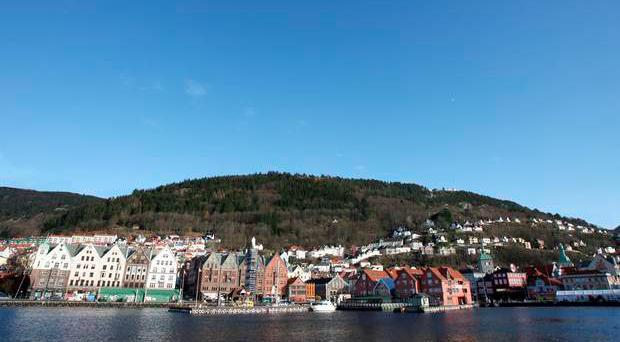 A helicopter has crashed near the Norwegian city of Bergen