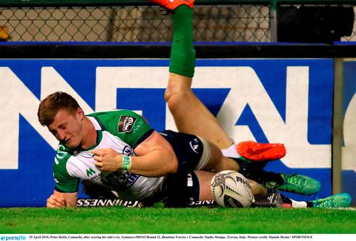 Peter Robb, Connacht, after scoring his side's try