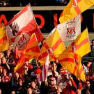 Ulster supporters will be showing their colours again at the Kingspan Stadium this afternoon. Photo: Sportsfile