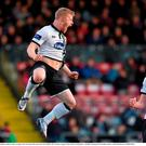 Daryl Horgan, Dundalk, celebrates after scoring his side's first goal with team-mate Chris Shields