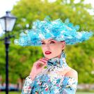 The milliner Philip Treacy's €9,300 blue hat. Photos: Marc O'Sullivan