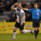 Daryl Horgan celebrates after scoring the second goal against Bohemians (SPORTSFILE)