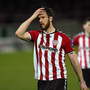 A dejected Ryan McBride after the game (SPORTSFILE)