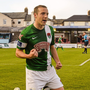 Karl Sheppard celebrates after scoring his side's first goal (SPORTSFILE)