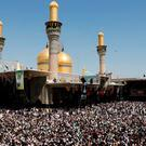 Shi'ite pilgrims gather at Imam Moussa al-Kadhim shrine to mark his death anniversary in Baghdad's Kadhimiya district, Iraq May 25, 2014