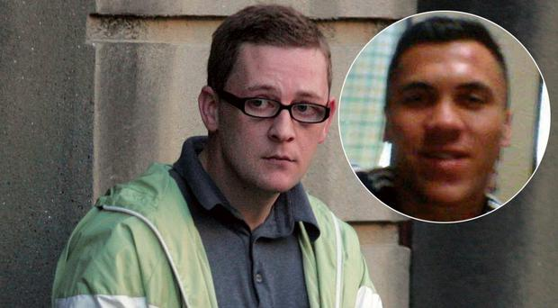 Derek 'Del Boy' Hutch was attacked by Jamie Griffin, inset, in jail