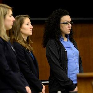Dynel Lane, far right, was convicted of all six charges after she attacked a pregnant woman and cut out her foetus
