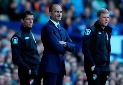 Roberto Martinez looks on. Photo: Getty