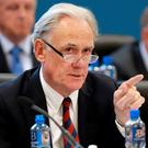 SHARES: Bank of Ireland chairman Archie Kane at the bank's AGM in UCD last week. Photo: Frank McGrath