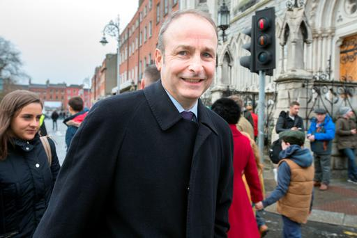Not gone away: Water issue will bedevil Micheal Martin's Fianna Fail. Photo: Tony Gavin