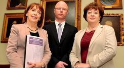PARTY FOUNDERS: Roisin Shortall, Stephen Donnelly and Catherine Murphy all received donations from Chadwick