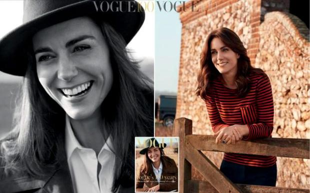 The pictures were taken by Josh Olins, one of the world's leading fashion photographers, in a collaboration between British Vogue and the National Portrait Gallery CREDIT: JOSH OLINS/VOGUE