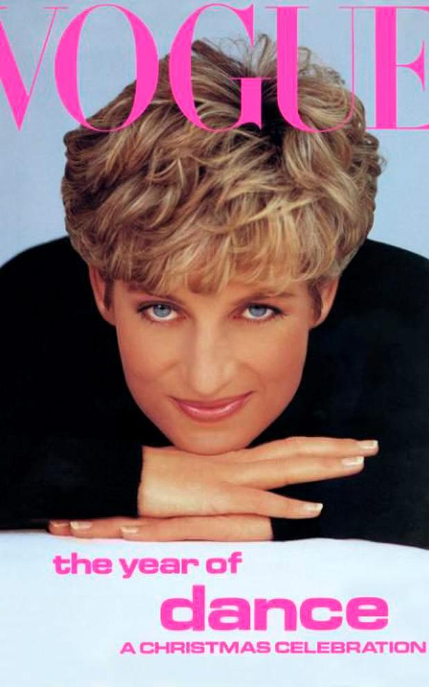 Princess Diana appeared on the front cover of Vogue in 1991. Credit: Vogue