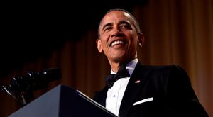 President Barack Obama speaks at the annual White House Correspondents' Association dinner at the Washington Hilton in Washington. AP: Susan Walsh