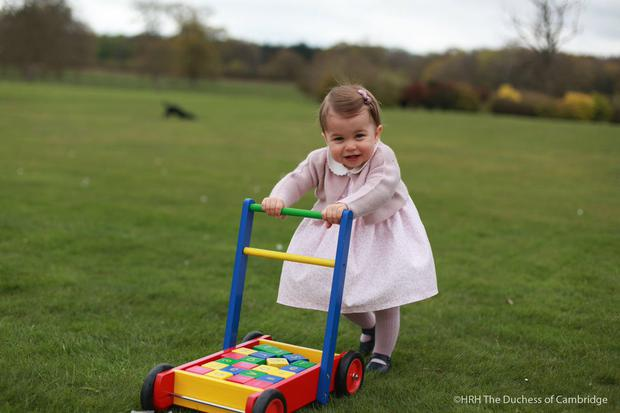New photos of Princess Charlotte were released by Kensington Palance in celebration of her first birthday