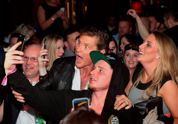 David Hasselhoff parties at The Gumball 3000 launch party at Lillies Bordello,Dublin Picture: Brian McEvoy