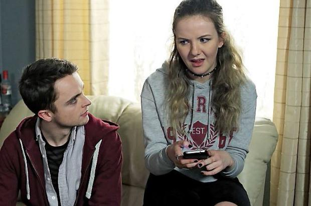 Fair City's duo Oisin and Charlotte played by Patrick Ball (21) and Martha Fitzpatrick (19)