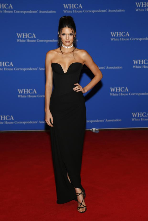 Model Kendall Jenner arrives for the White House Correspondents' Association (WHCA) dinner in Washington, D.C., U.S., on Saturday, April 30, 2016.