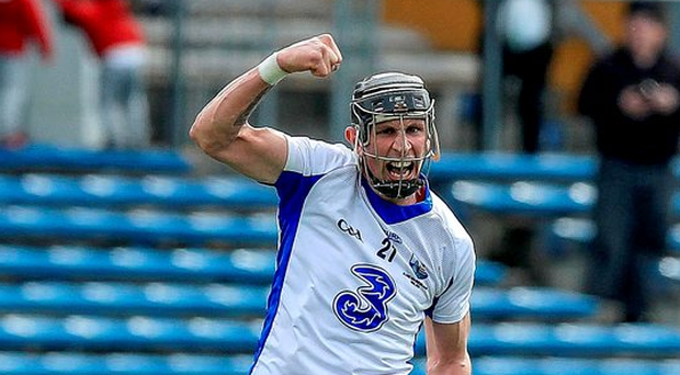 'Maurice Shanahan celebrates after his late free earned a draw for Waterford' Photo: ©INPHO/Donall Farmer