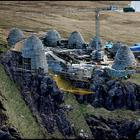 Exclusive: The almost completed film set of an ancient Jedi Temple under construction at Ceann Sibeal in Kerry for the making of Star Wars Episode VIII.