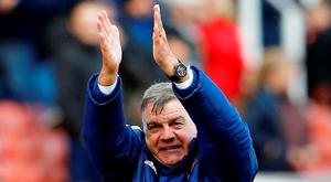 Sunderland manager Sam Allardyce celebrates at the end of the match. Photo: Darren Staples/Reuters
