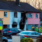 The house in St Coleman's Park, Macroom, Co. Cork, where two peolpe died in the early hours of this morning after a house fire