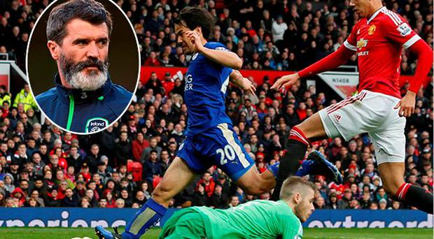 Roy Keane was not impressed with Manchester United's second-half display against Leicester