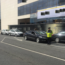 A driver who was under the influence crashed into four parked cars in Dublin city centre. Photo: An Garda Síochána/ ‏@GardaTraffic