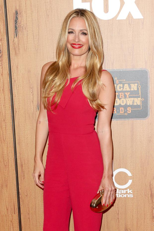 TV personality Cat Deeley poses in the press room during the 2016 American Country Countdown Awards at The Forum on May 1, 2016 in Inglewood, California. (Photo by Frederick M. Brown/Getty Images)