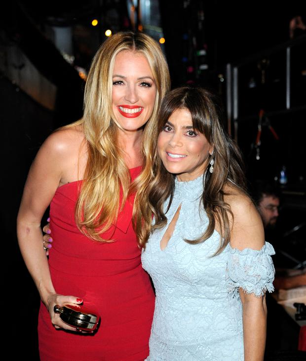 TV personalities Cat Deeley (L) and Paula Abdul pose backstage during the 2016 American Country Countdown Awards at The Forum on May 1, 2016 in Inglewood, California. (Photo by Kevork Djansezian/Getty Images for dcp)