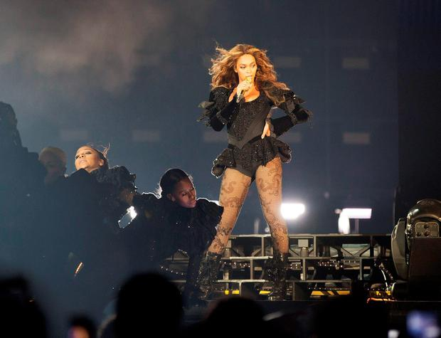 Beyonce performs during the Formation Tour at the Georgia Dome on Sunday, May 1, 2016, in Atlanta. (Photo by Daniela Vesco/Invision for Parkwood Entertainment/AP Images)