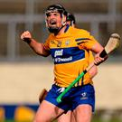 Clare's Colin Ryan celebrates scoring a late point in extra-time. Photo: Piaras Ó Mídheach / Sportsfile