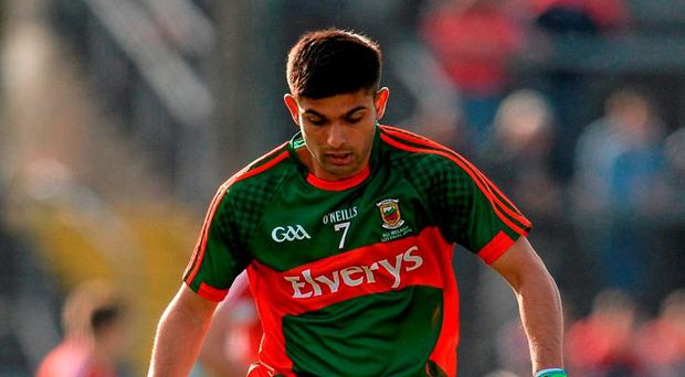 First Pakistani-born All-Ireland winner Shairoze Akram of Mayo. Photo: Seb Daly / Sportsfile