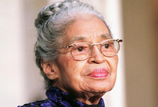 Lofty comparison: Rosa Parks, the 'first lady of civil rights