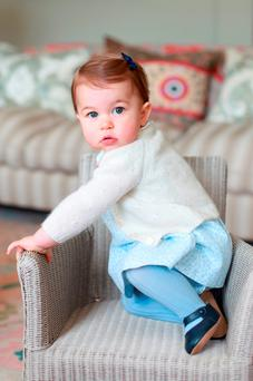 Princess Charlotte is captured in this portrait taken by her mother Kate and released by the British royal family this week. Getty Images