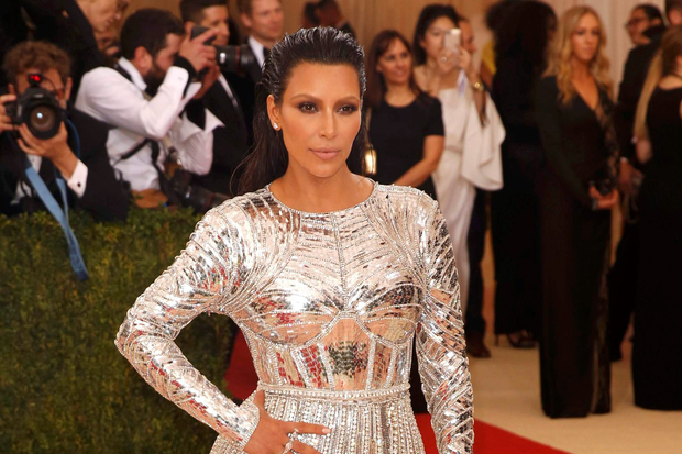 5101ae308c9 Kim Kardashian arrives at the Metropolitan Museum of Art Costume Institute  Gala (Met Gala)