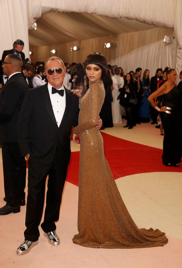 Designer Michael Kors arrives with Actress Zendaya at the Metropolitan Museum of Art Costume Institute Gala (Met Gala) to celebrate the opening of