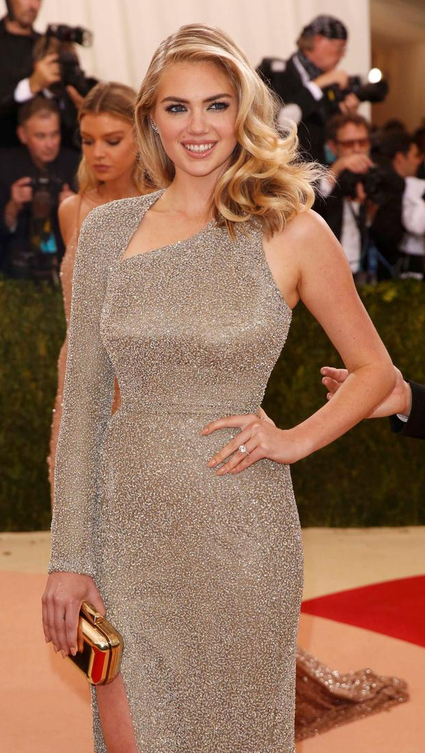 Model Kate Upton arrives at the Metropolitan Museum of Art Costume Institute Gala (Met Gala) to celebrate the opening of