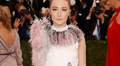 Actress Saoirse Ronan arrives at the Metropolitan Museum of Art Costume Institute Gala (Met Gala) to celebrate the opening of