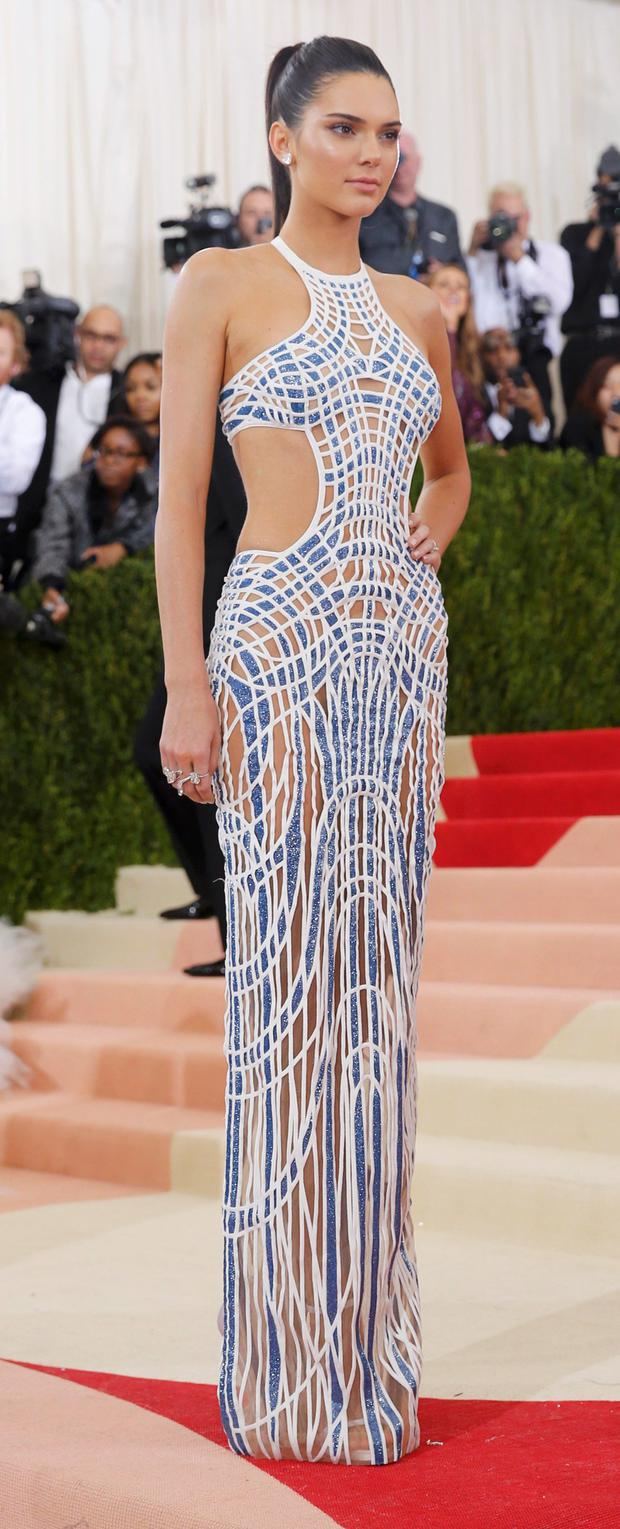 Television personality Kendall Jenner arrives at the Metropolitan Museum of Art Costume Institute Gala (Met Gala) to celebrate the opening of