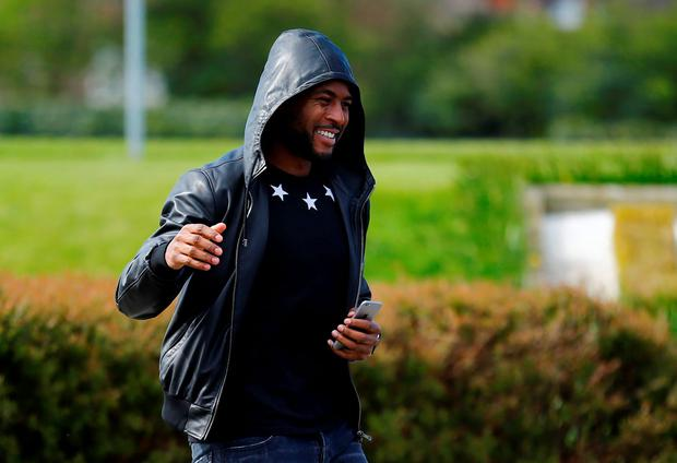 Britain Soccer Football - Leicester City Training - Leicester - 3/5/16 Leicester's Wes Morgan arrives for training Reuters / Darren Staples Livepic EDITORIAL USE ONLY.