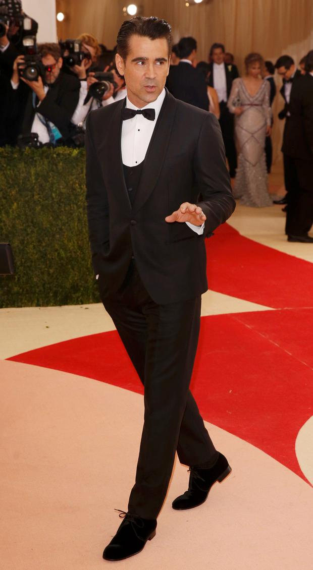 Actor Colin Farrell arrives at the Metropolitan Museum of Art Costume Institute Gala (Met Gala) to celebrate the opening of