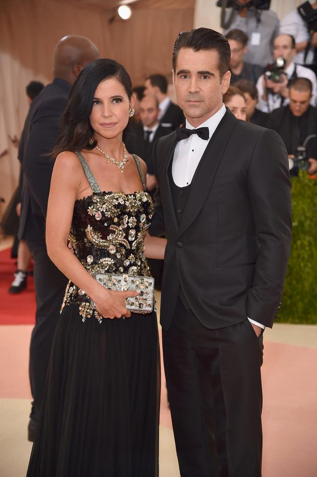 Colin Farrell and Claudine Farrell attend the